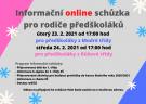 Informační online schůzka pro rodiče předškoláků 1